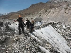 Ut över Khumbu Glacier