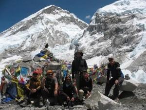 Hela gruppen nådde sitt mål - Everest BC april 2010