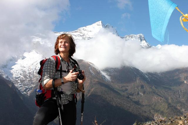 Idolfoto :)  Ewa Nilsson - Expeditionsmedlem, Island Peak