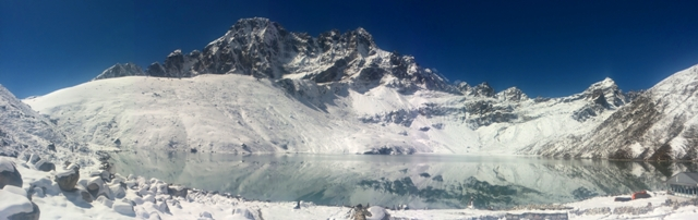 Panorama over Gokyo Lake