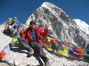 Steven on the summit of Kala Pathar