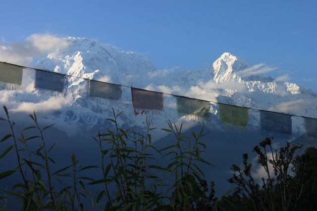 Skymning i Himalaya