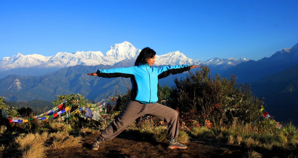 Warrior, Yoga Trek Nepal