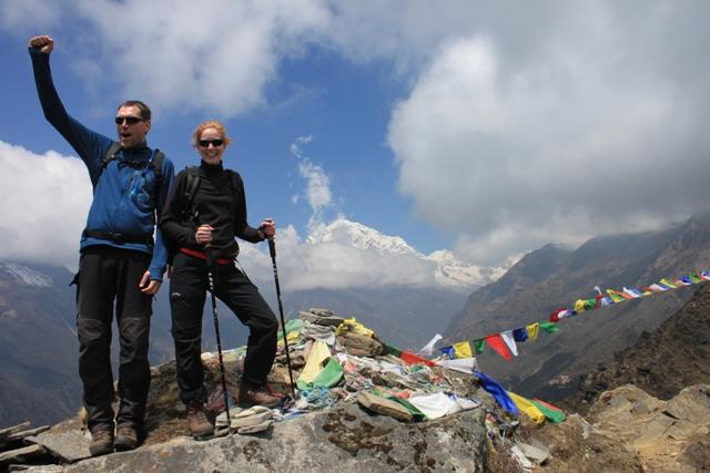 Marten och Anna stortrivs i Himalaya!