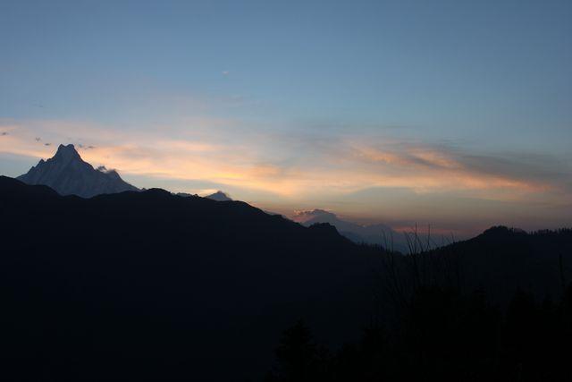 Soluppgång vid Poon Hill