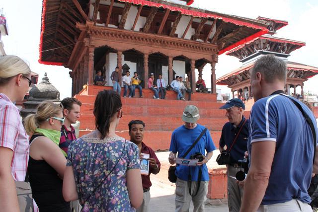 Guidad rundtur vid Durbar Square i Kathmandu