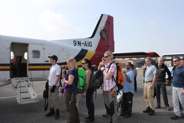 Dags for att flyga till Lukla