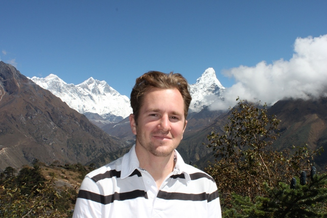 Andreas vid Everest View Hotel 3800m