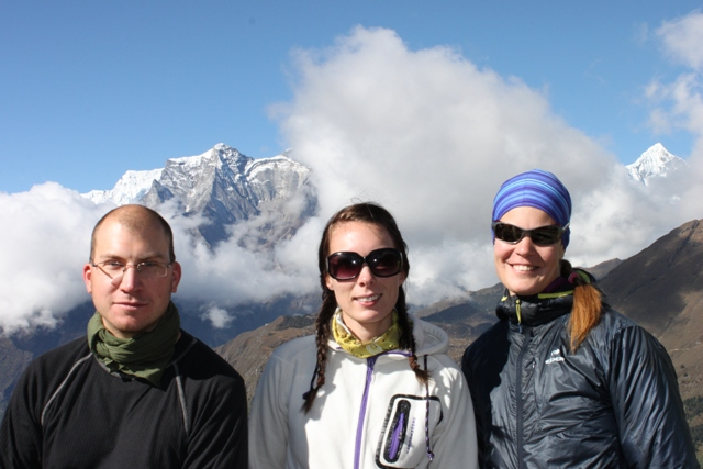Rikard, Jenny & Ina i Tengboche