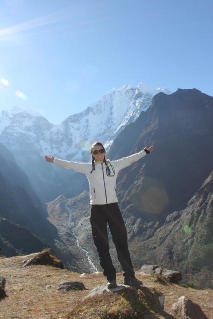 Jenny njuter av livet pa 3800m