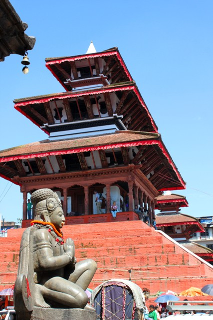 """Hippitemplet"" på Kathmandu Durbar Square."