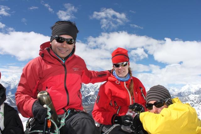 Saran, Ina & Andreas pa toppen