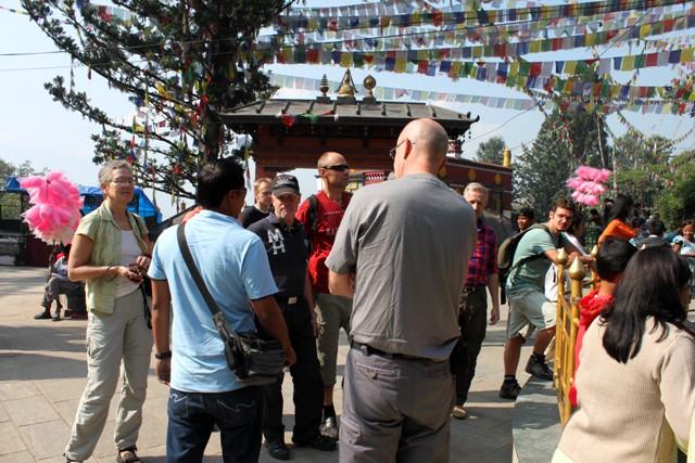 Besök vid Monkey Tempel