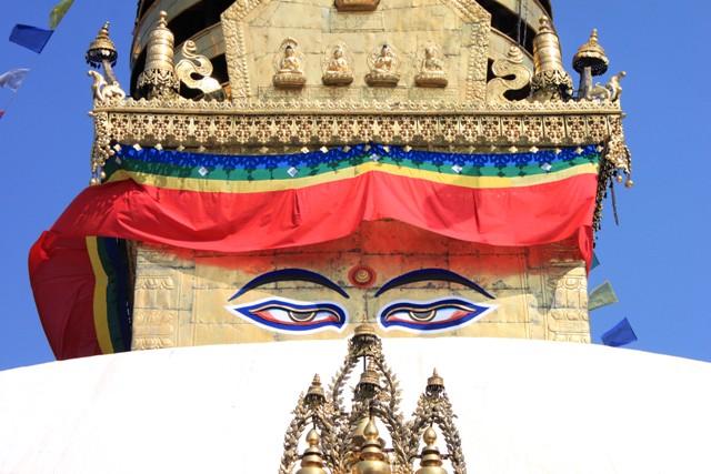 Stupan med Buddhas ögon