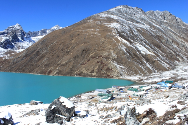 Byn Gokyo och Gokyo Ri - Kand utkikspunkt for bla Mount Everest