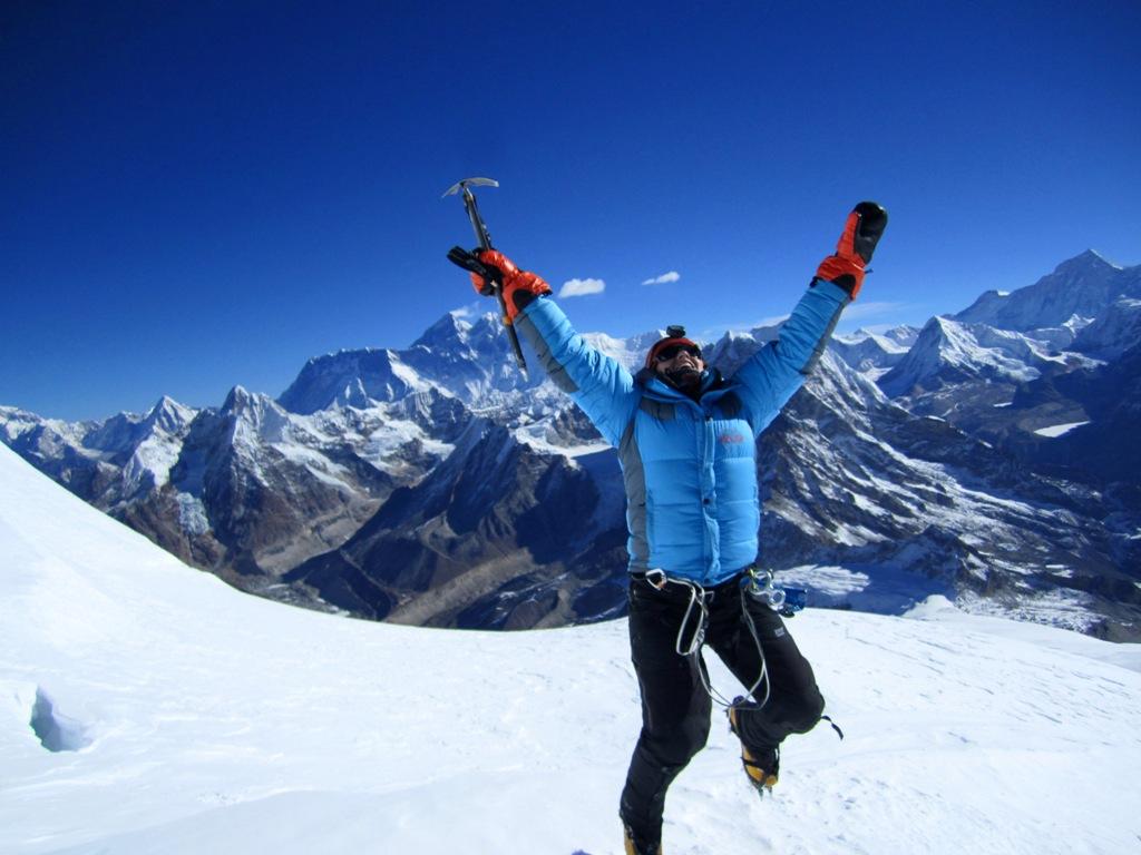 Lycklig i Himalaya! Mera Peak