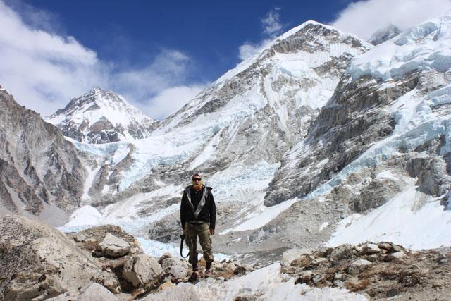 Jonas vid Everest BC