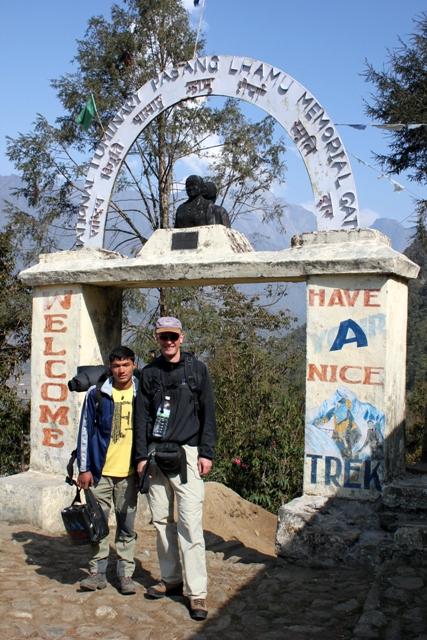Michael och var sherpa Neem