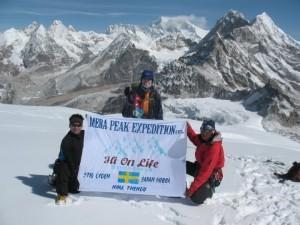 Delar av Mera Peak expedition