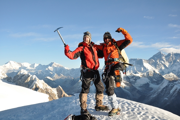 Joakim & Henrik on the summit of Mera Peak