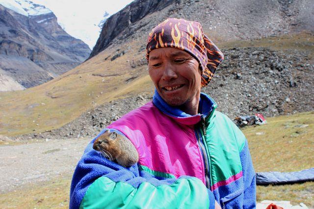Vår guide Sonam fann en vän