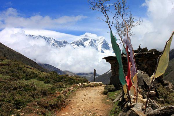 Vacker vandring i Himalaya, även sommartid!