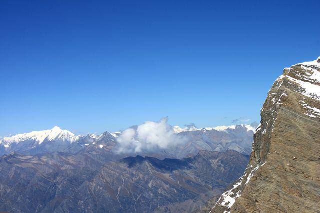 Storslagna vyer över Himalaya