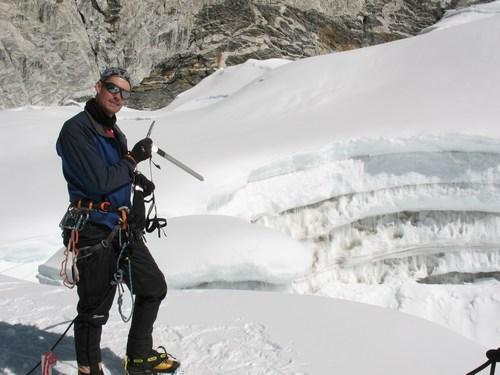 """På grund av """"den där"""" når vi inte toppen!  Besvikna miner från klättrare."""