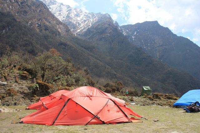Vår tältplats I Chutanga.