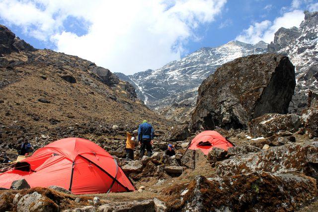 Vårt läger i Tuli Kharka