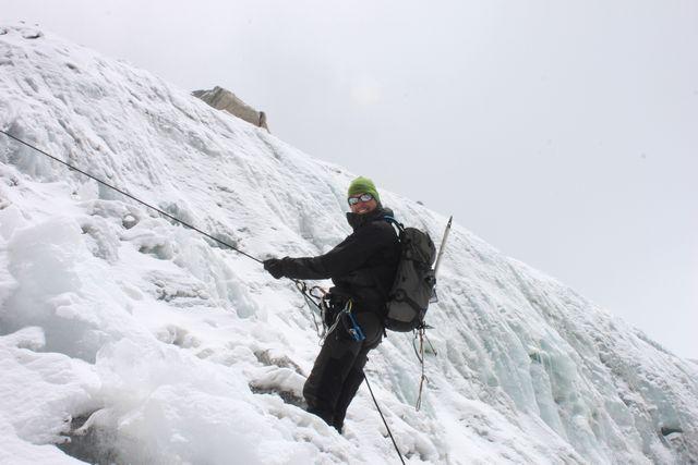 Mårten tränar vid glaciären