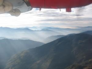 Drömskt vacker flygresa till Kathmandu