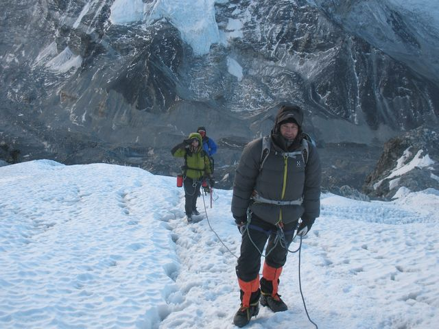 Vandring upp för glaciären