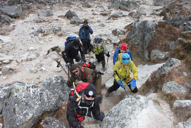 Gruppen tränar inför Island Peak??????  Eller kanske inte???