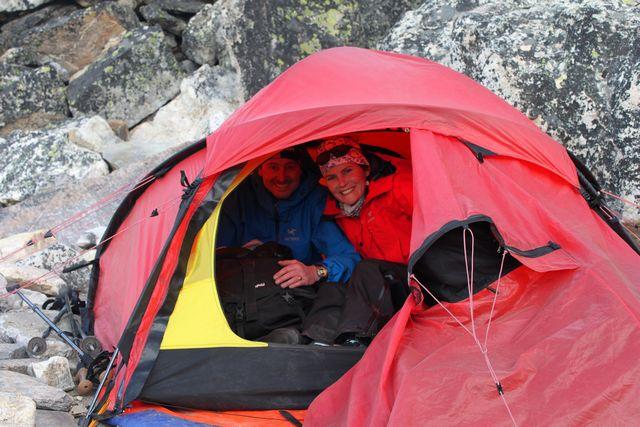 Katarina & Peter har gjort sig hemmastadda i High Camp