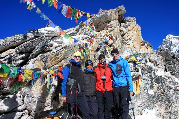 På toppen av Kala Pathar, Everest BC Trek
