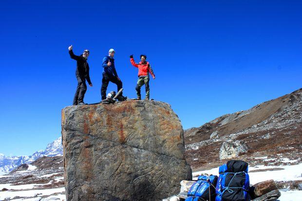 """Om inte toppen av Island Peak - så toppen av """"The Lunch Rock""""!!  Jiiha!!"""