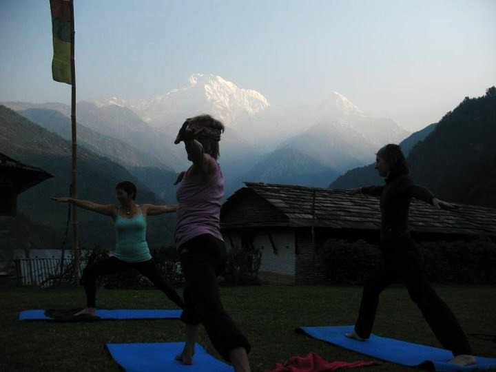 Yoga in the dawn