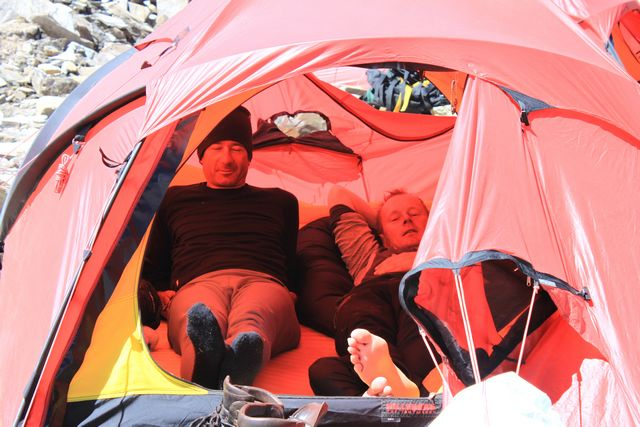 Lugnt och skönt i Camp 1